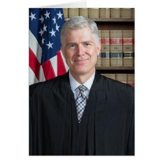 Cartão U.S. Juiz do Tribunal Supremo Neil Gorsuch