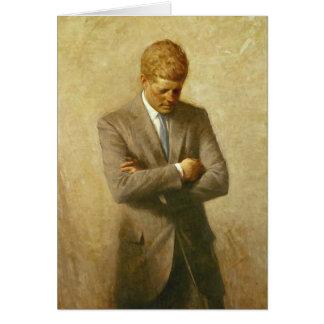 Cartão U.S. Presidente John F. Kennedy por Aaron Shikler