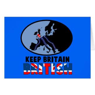 Cartão UKIP britânico