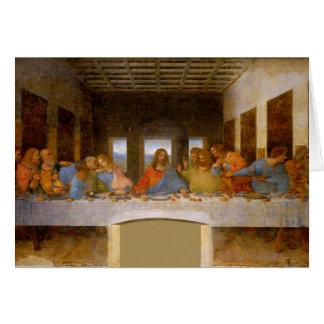 Cartão Última ceia da Vinci