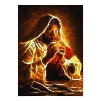 Cartão Última ceia do Jesus Cristo