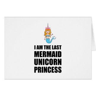 Cartão Última princesa da sereia do unicórnio