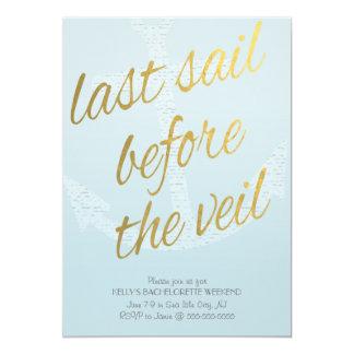 Cartão Última vela antes do véu Bachelorette nos azul-céu