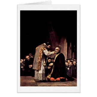 Cartão Último comunhão de St Joseph por Francisco De Goya