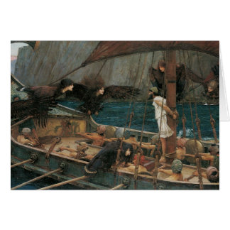 Cartão Ulysses e as sirenes pelo Waterhouse de JW