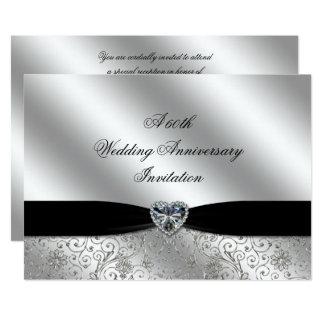 Cartão Um 60th aniversário de casamento 7x5 do diamante