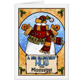 Cartão Um abraço Blustery grande de Mississippi