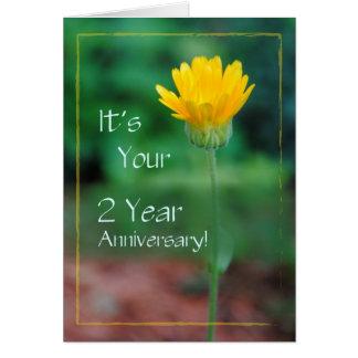 Cartão Um aniversário de 2 anos, recuperação do vício
