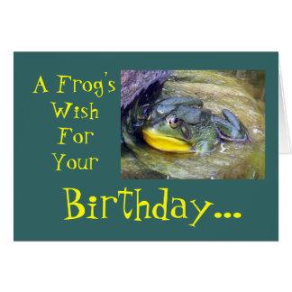 Cartão Um aniversário de Frog'sWishForYour…