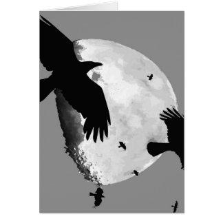 Cartão Um assassinato dos corvos e da lua