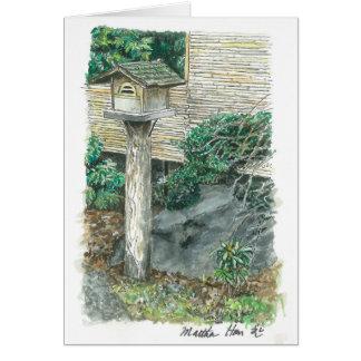Cartão um birdhouse velho