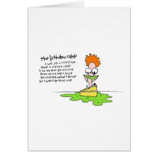 Cartão Um bolo de aniversário tão agradável comeu-o