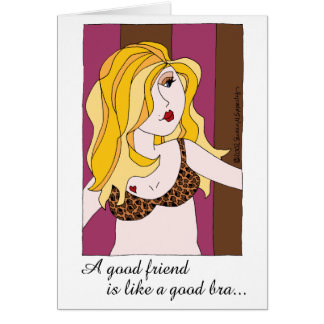 Cartão Um bom amigo é como um bom humor do namorada do