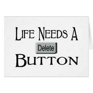 Cartão Um botão da supressão