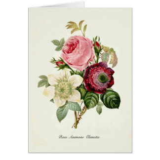 Cartão Um buquê das flores