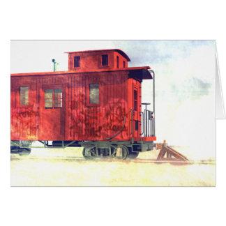 Cartão Um caboose abandonado