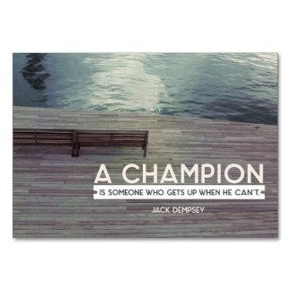 Cartão Um campeão