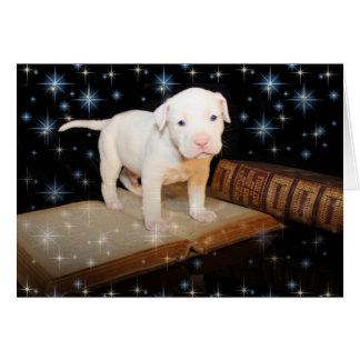 Cartão Um cão realiza-se para a vida, não apenas para o