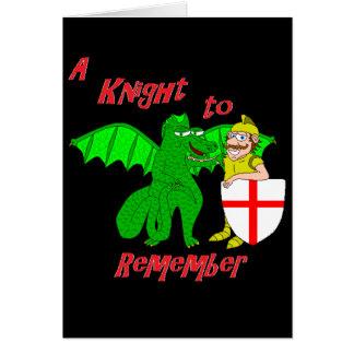 Cartão Um cavaleiro a recordar