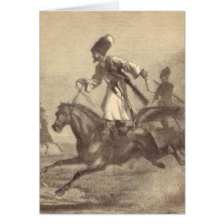 Cartão Um cavaleiro do Cossack