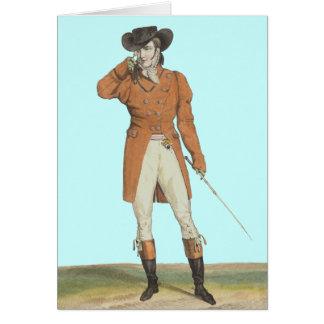 """Cartão - Um cavalheiro considerável """"incrível"""" francês"""
