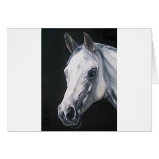 Cartão Um cavalo branco