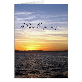 Cartão Um começo novo…