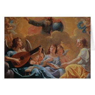 Cartão Um concerto dos anjos