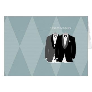 Cartão Um conto de dois Tuxes