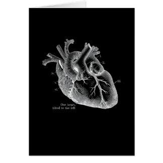 Cartão Um coração, inclinado à esquerda