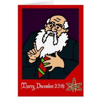 Cartão Um cumprimento ateu do Natal