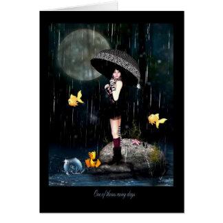 Cartão Um de dias chuvosos dos thoses