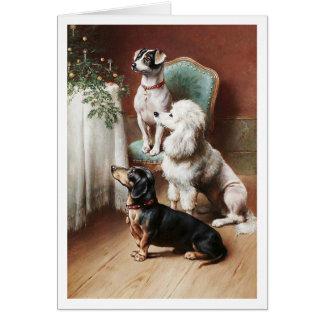 Cartão Um deleite Carl Reichert do Natal