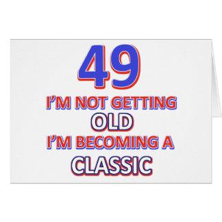 Cartão um design de 49 aniversários