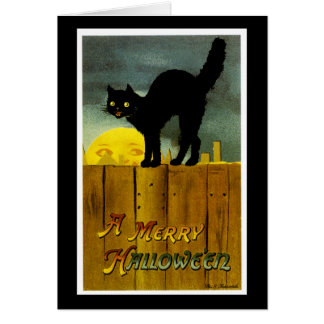 Cartão Um Dia das Bruxas alegre