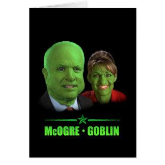 Cartão Um Dia das Bruxas republicano!