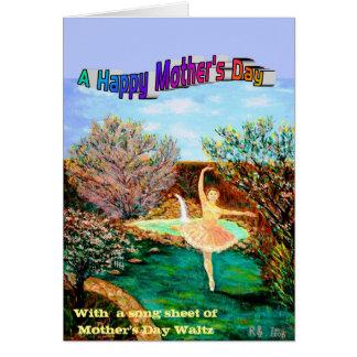 Cartão Um dia das mães feliz