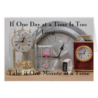 Cartão Um dia ou um minuto de cada vez