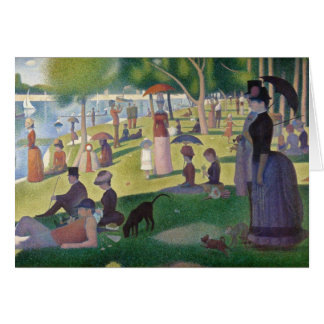 Cartão Um domingo à tarde na ilha do La Jatt grandioso