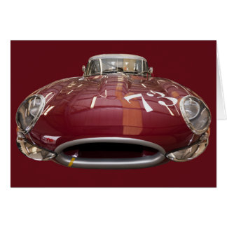 Cartão Um E-Tipo clássico de Jaguar desde 1961