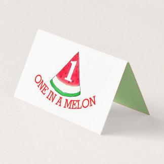 Cartão um em um melão