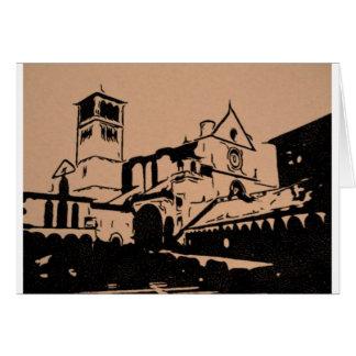 Cartão Um esboço simples da basílica de St Francis,