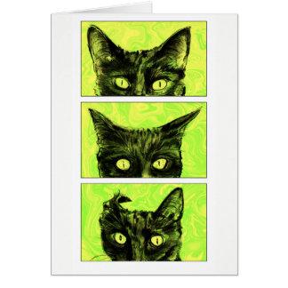 Cartão Um estudo das orelhas de gato