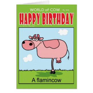 Cartão Um FlaminCow