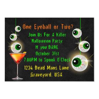 Cartão Um globo ocular ou cocktail dois o Dia das Bruxas