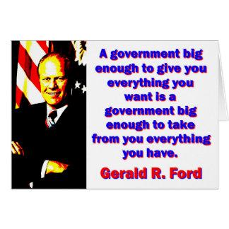 Cartão Um governo - Gerald Ford grande bastante
