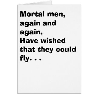 Cartão Um homem e uma mosca