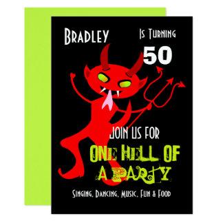 Cartão Um inferno de um partido da celebração do partido