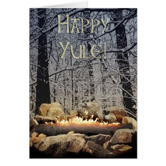 Cartão Um início de uma sessão ardente tranquilo de Yule