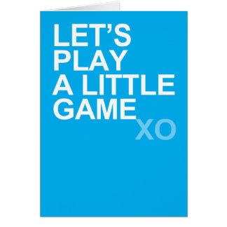 Cartão Um jogo pequeno (xo)